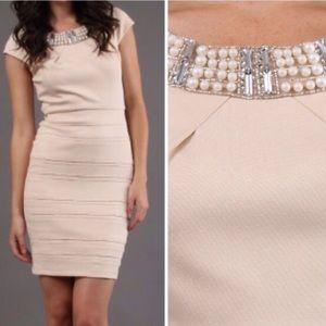 Alexia Admor Jewel Neck Cap Sleeve Dress